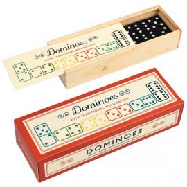 Klasické domino v dřevěné krabičce