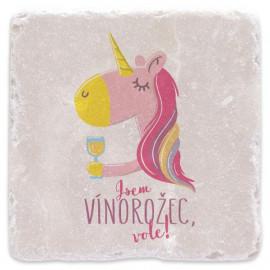 Mramorový tácek - Jsem vínorožec, vole!