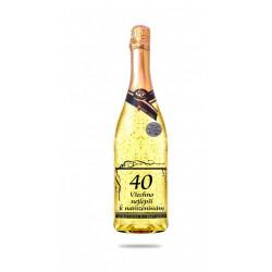 Narozeninové víno se zlatem - 40 let