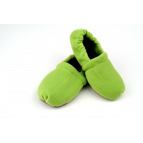 Nahřívací bačkory zelené