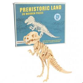 Tyranosaurus Rex - 3D dřevěné puzzle
