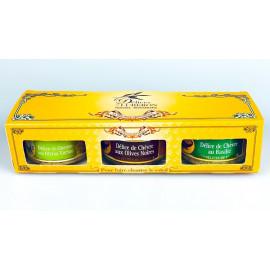 Provensálské delikatesy, tapenády s olivami